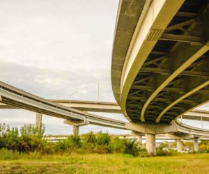 elevated highway road and pillars